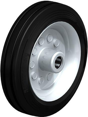 Rad mit schwarzen Standard- Vollgummireifen 180x50mm