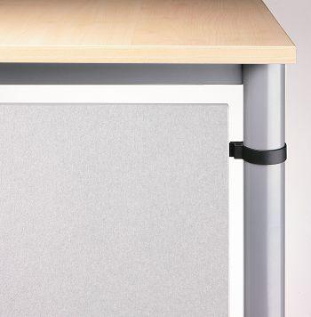 Sichtblende für Serie H, Silber HxB: 400 x 1600 mm