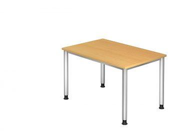 Schreibtisch Serie H, Dekor: Buche BxTxH: 1200 x 800 x 680-760 mm