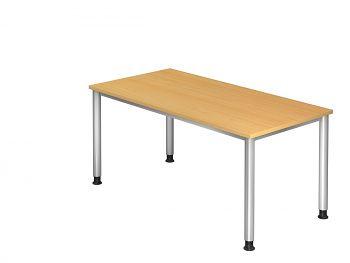 Schreibtisch Serie H, Dekor: Buche BxTxH: 1600 x 800 x 680-760 mm