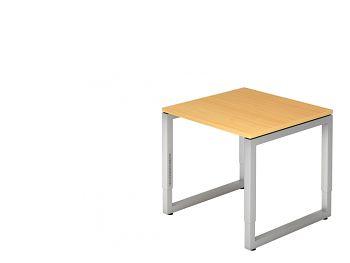 Schreibtisch Buche B x T x H 800 x 800 x 650-850 mm