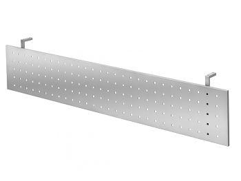 Sichtblende Silber zu Tisch 2000 x 1000 mm