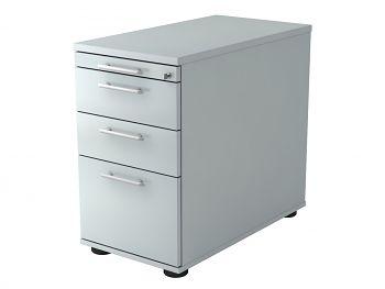 Stand-Container, Solid, Dekor: Grau BxTxH: 428 x 800 x 720-760 mm