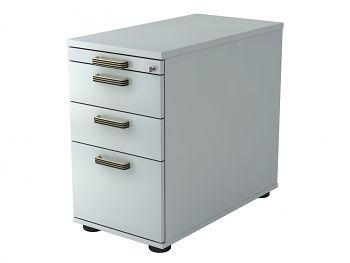 Standcontainer Serie H,  Dekor: Grau BxTxH: 428 x 800 x 720-760 mm