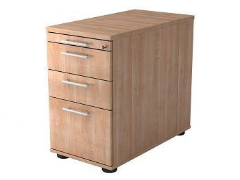 Stand-Container, Solid,Dek.: Nussbaum BxTxH: 428 x 800 x 720-760 mm
