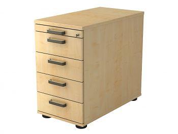 Standcontainer Serie H,  Dekor: Ahorn BxTxH: 428 x 800 x 720-760 mm