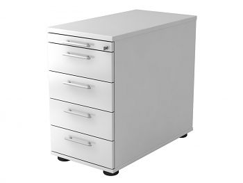 Stand-Container, Solid, Dekor: Weiß BxTxH: 428 x 800 x 720-760 mm