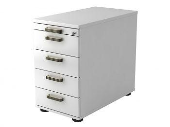 Standcontainer Serie H,  Dekor: Weiß BxTxH: 428 x 800 x 720-760 mm