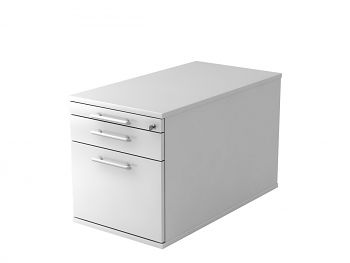 Roll-Container,  Dekor: Weiß BxTxH: 428 x 800 x 512 mm