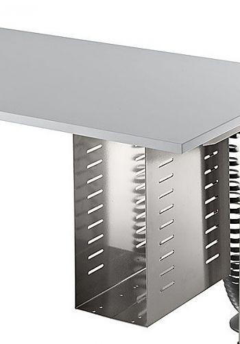 PC-Halter Silber zur inneren Montage