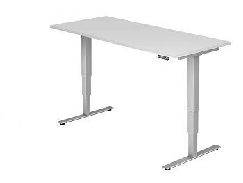 Arbeitstisch, Dekor: Weiß BxTxH: 1800 x 800 x 635-1285 mm