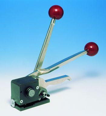 """Verschlußgerät """"Hülsenlos"""" für Stahlbandumreifung 13 mm breit"""
