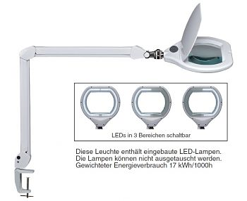 LED-Lupenleuchte Stufenlos dimmbar